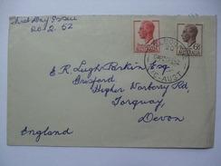 AUSTRALIA GEORGE VI 1952 41/2d & 51/2d FDC SENT TO ENGLAND - Huddart Parker Line Envelope - Briefe U. Dokumente