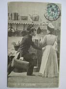 1912 - Idylle à La Cuisine - Militaria Humour - Militaire Et Cuisinière - Humoristiques