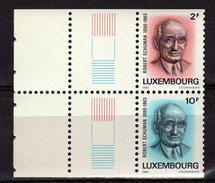 LUXEMBOURG 1986 Robert Schuman Yv 1106/1107 MNH **