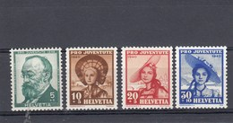Suisse - Neufs**  -  Pro Juventute - Année 1940 - YT 354/357