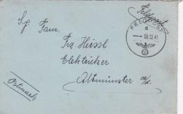 Feldpost WW2: From Dunkirk, France - Marine-Hafen-Abteilung Dünkirchen FP 01659 P/m 8.12.1941 - New Years Card Inside (S - Militaria