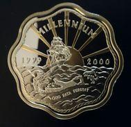 "BERMUDA 2 DOLLARS 1999 - 2000 SILVER PROOF ""Millennium"" (free Shipping Via Registered Air Mail) - Bermudas"