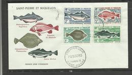 Saint Pierre Miquelon FDC YT 421/24 Poissons Fish - St.Pierre Et Miquelon