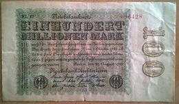 Allemagne - 100000000 Mark - 22-08-1923 - PICK 107d.1 - TTB+ - [ 3] 1918-1933 : República De Weimar