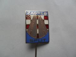 Highway Autoput ZAGREB - SPLIT, Car Automobile, Croatia PINS BADGES P2 - Andere