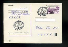Marcophilie,lettre 1982,obliteration Marteau Musée Mine,80.anniversaire Sur Entier Postal Hradcany Tchecoslovaquie