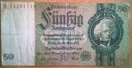 Allemagne - 50 Reichsmark - 30-03-1933 - PICK 182a.2 - TTB+ - [ 3] 1918-1933 : República De Weimar
