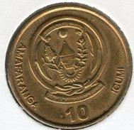 Rwanda 10 Francs 10 Amafaranga 2009 KM 34 - Rwanda