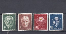 Suisse - Neufs**  -  Pro Juventute - Année 1945 - YT 423/426