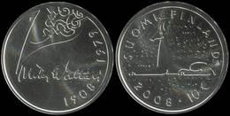 """Finland 10 Euro Silver BU 2008 """"100th Birthday Of Mika Waltari 1908 - 2008"""" UNC - Finlandia"""