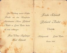 Depliant  19 X 15 Cm...1905 - Hochzeit
