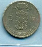 1975  5 FRANCS BELGIQUE - 1951-1993: Baudouin I
