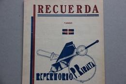 Partition : Recuerda, Tango - Partitions Musicales Anciennes