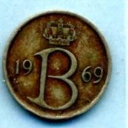 1969  25 CENTIMES  BELGIQUE - 1951-1993: Baudouin I