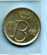 1968  25 CENTIMES  BELGIË - 1951-1993: Baudouin I