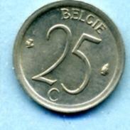 1967  25 CENTIMES  BELGIË - 1951-1993: Baudouin I