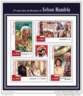 SAO TOME 2015 ** M/S Nelson Mandela Liberation Befreiung Queen Elizabeth Opra Winfrey A1515 - Famous People