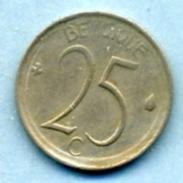 1968  25 CENTIMES  BELGIQUE - 1951-1993: Baudouin I
