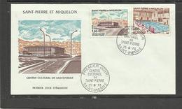 Saint Pierre Miquelon FDC YT 431/32 Centre Culturel Piscine - St.Pierre Et Miquelon