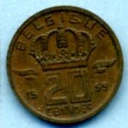 1959   20 CENTIMES  BELGIQUE - 02. 25 Centimes