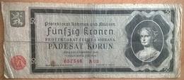 Bohême Et Moravie - 50 Korun - 12-9-1940 - PICK 5a - B+ - [ 9] Ocupaciones Alemanas