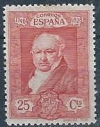 ES508SGDEV-LFGDEV508.España.Spain  Espagne. ,Pintor.RETRATO DE GOYA  1930 (Ed 518**)sin Charnela - 1889-1931 Reino: Alfonso XIII