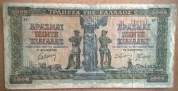 Grèce - 5000 Drachmes - 20-6-1942 - PICK 119a.1 - TB - Grecia