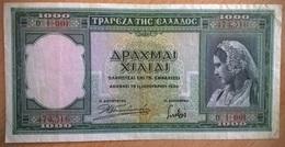 Grèce - 1000 Drachmes - 1-1-1939 - PICK 110 - TTB+ - Grecia