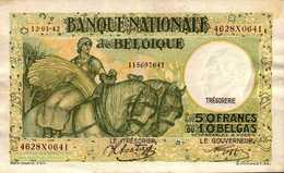 BELGIQUE  50 FRANCS  Du 12-1-1942  Pick 106 AU/SPL - [ 2] 1831-... : Belgian Kingdom