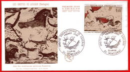 FDC  GROTTES DE LASCAUX  MONTIGNAC 13 4 1968  COTE 22 EUROS