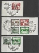 REICH - 1936 - YVERT N°582/590 OBLITERES SUR FRAGMENT  - 3 COMBINAISONS DE CARNET  - - Deutschland