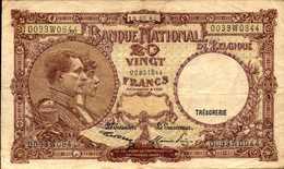 BELGIQUE  20 FRANCS  Du 19-3-1947  Pick 111 AU/SPL - [ 6] Treasury