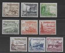 REICH - 1937 - YVERT N°594/602 **  - COTE = 110 EURO  - BATEAUX - Deutschland