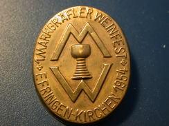 Abzeichen 1. Markgräfler Weinfest Efringen Kirchen 1954 - Allemagne