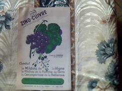 Publicité Agriculture  Traitement De La Vigne Zino Cuivre QUINO Usine LAQUINOLEINE Rue De Liege Paris - Publicidad
