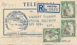 Philatélie - B2450 -  Jamaique - Kingston - Curieux Document Recommandé Avec Bel Affranchissement ( 2 Scans) - West Indies