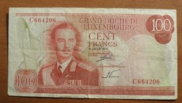 1970 - Luxembourg - 100 CENT FRANCS, 15 JUILLET 1970, C 664206 - Lussemburgo