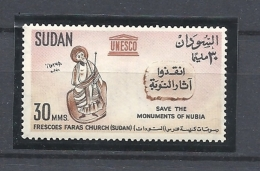 SUDAN   1964 UNESCO Campaign Of Preservation Of Nubian Monuments HINGED - Sudan (1954-...)