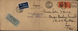 Imprimé Par Avion 1924 Walter Tell Aviation Tarifs Postaux Début Ligne Aérienne Lyon Genève YT 159 X 3 Et PA 5