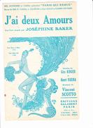 """Partition """"J'ai Deux Amours""""  Fox-Trot Avec Paroles. Joséphine BAKER, Géo KOGER, Henri VARNA, Vincent SCOTTO - Musique & Instruments"""
