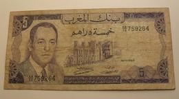 1970 - Maroc - Morocco - 1390 - CINQ DIRHAMS, Hassan II, AA/52 759264 - Maroc