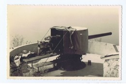 ALBANIA - ITALIAN OCCUPATION - CANNON - RPPC POSTCARD 1940s - 3 - Army & War