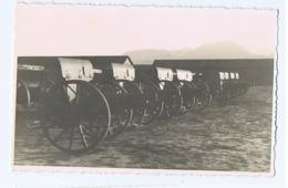 ALBANIA - ITALIAN OCCUPATION - CANNONS - RPPC POSTCARD 1940s (BG3284) - Army & War
