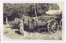 ALBANIA - ITALIAN OCCUPATION - SOLDIERS & CANNONS - RPPC POSTCARD 1940s - 21 - Army & War