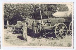 ALBANIA - ITALIAN OCCUPATION - SOLDIERS & CANNONS - RPPC POSTCARD 1940s (BG3283) - Army & War