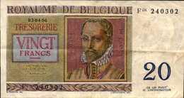 BELGIQUE  20 FRANCS  Du 3-4-1956  Pick 132b - [ 2] 1831-... : Royaume De Belgique