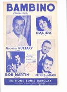 "Partition ""Bambino"" Avec Paroles. DALIDA, Georges GUETARY, Bob MARTIN, PATRICE Et MARIO, FANCIULLI, Jacques LARUE - Musique & Instruments"