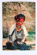Laveuse, Haut Atlas, Maroc Morocco Postcard With Stamp - Morocco