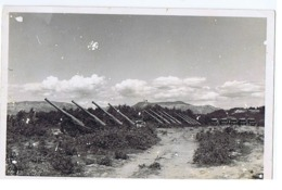 ALBANIA - ITALIAN OCCUPATION - CANNONS - PHOTO 1940s - (BG3278) - Army & War