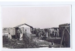 ALBANIA - ITALIAN OCCUPATION - CAMP - RPPC POSTCARD 1940s  (BG3277) - Army & War